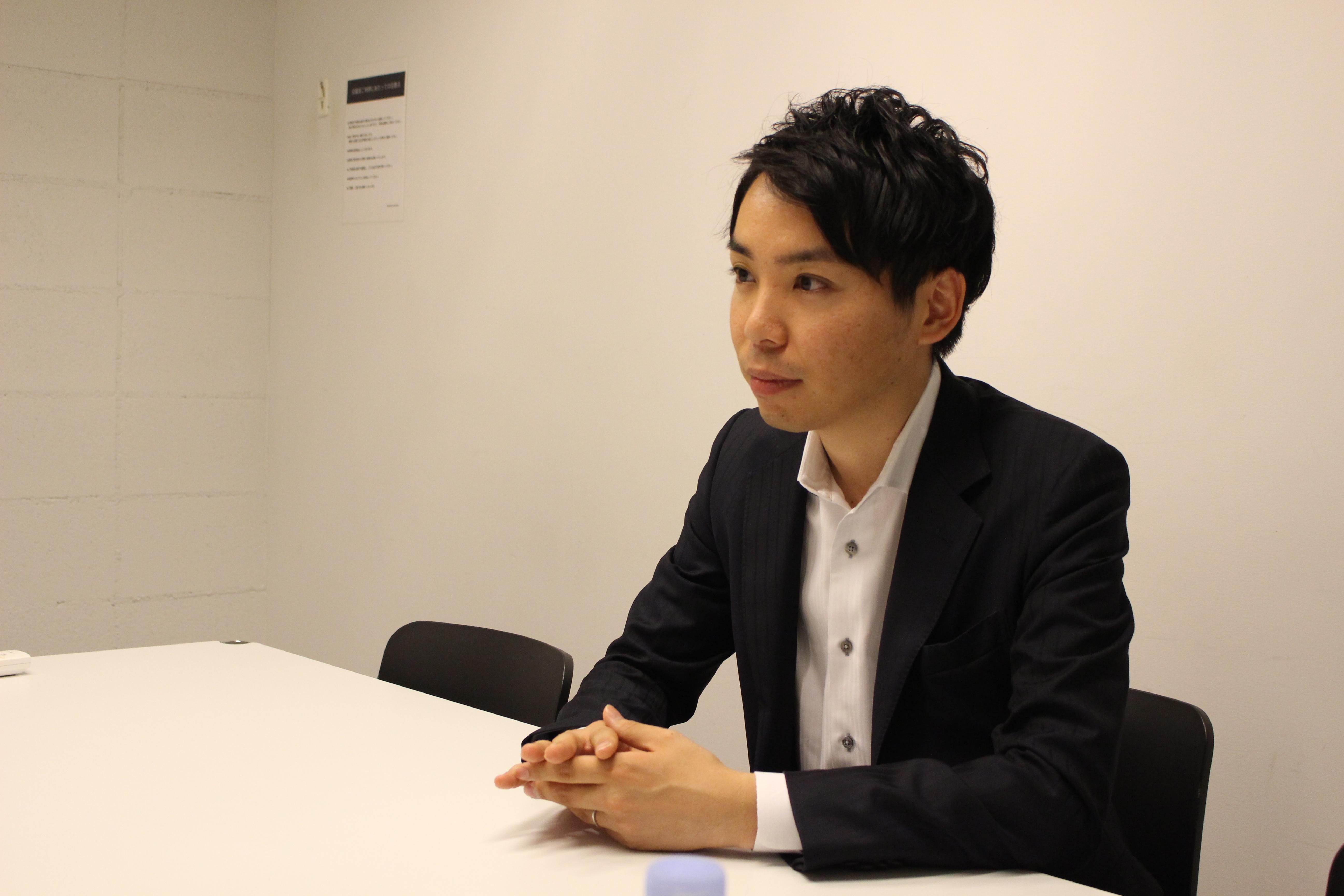 土井一真さんのインタビュー写真1