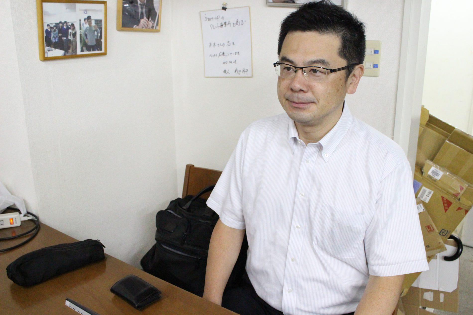 荻野恭弘さんのインタビューシーン1