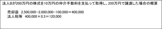法人の場合の計算例