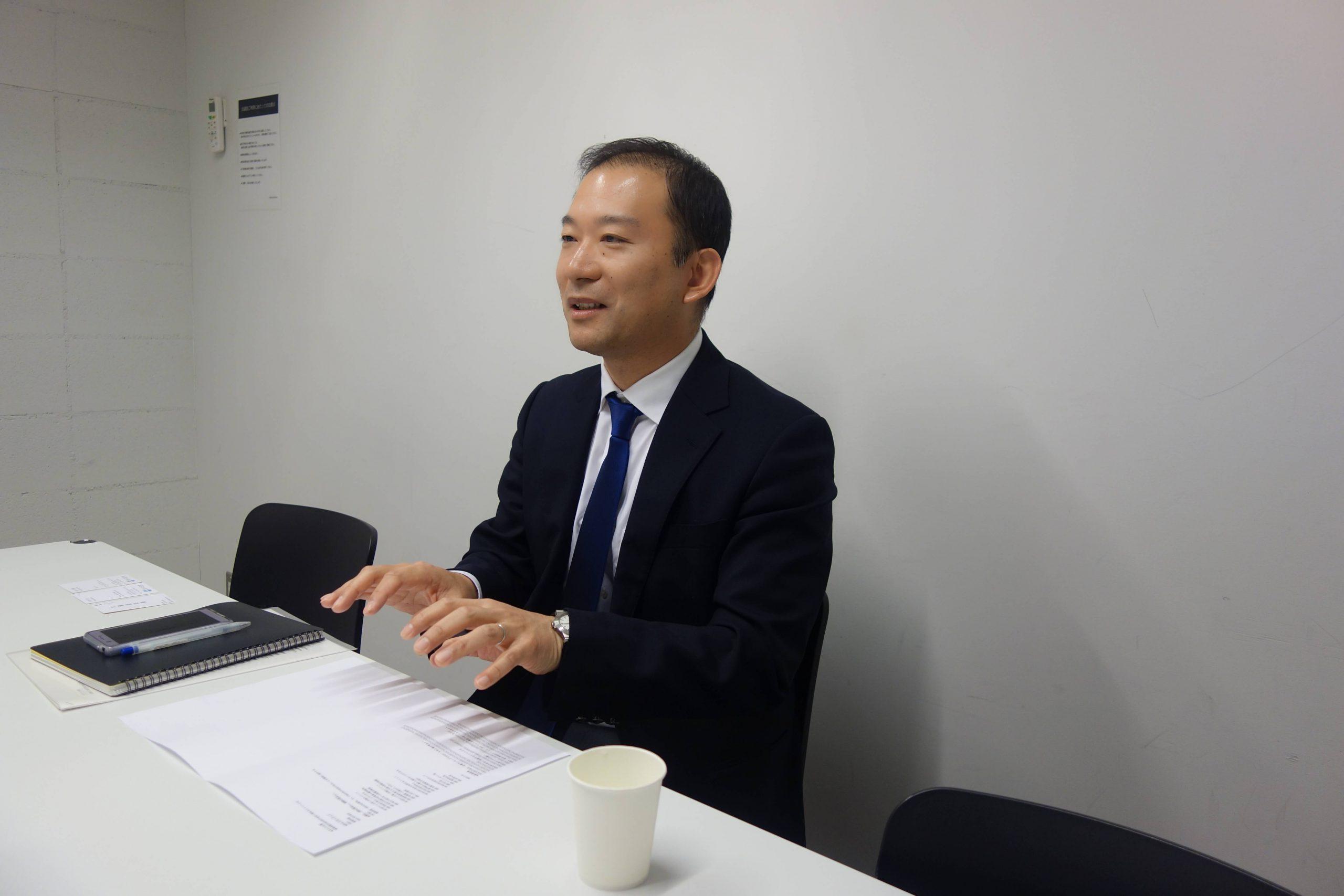 池田輝之氏のインタビューシーン2