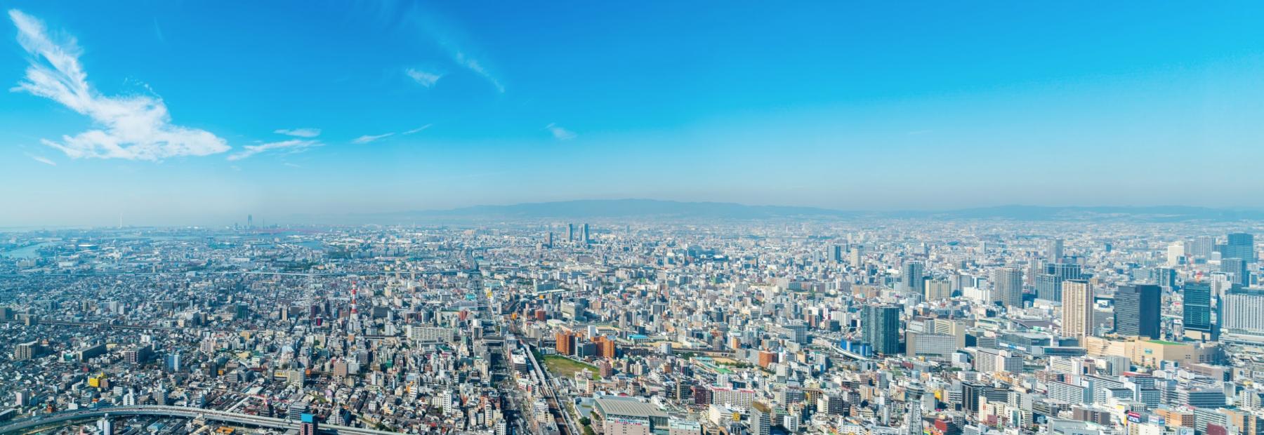 大阪を俯瞰