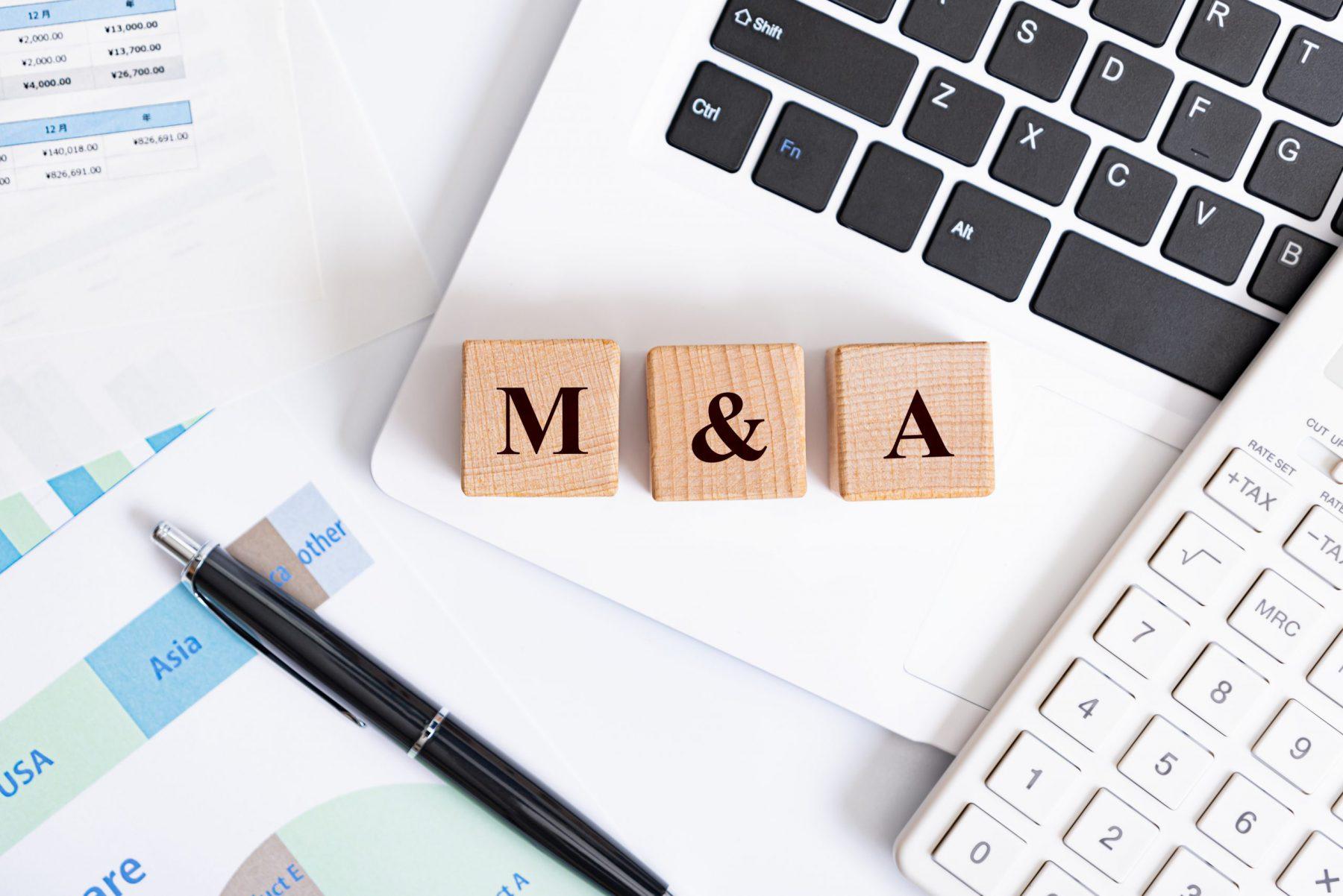 M&A アルファベットの文字