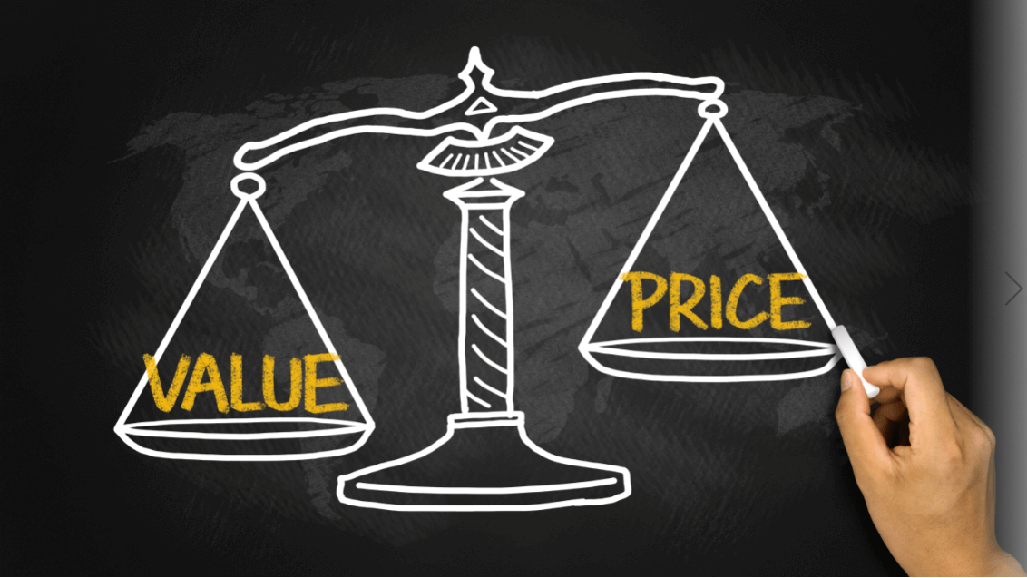 価値と値段の天秤ばかり