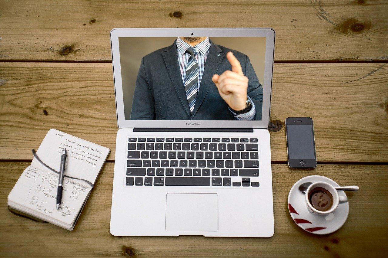 パソコンの画面でのオンライン解説